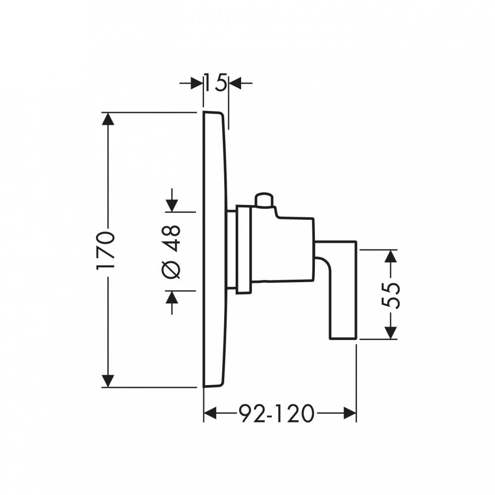 Термостат AXOR Starck Highflow для скрытого монтажа хром  39711000