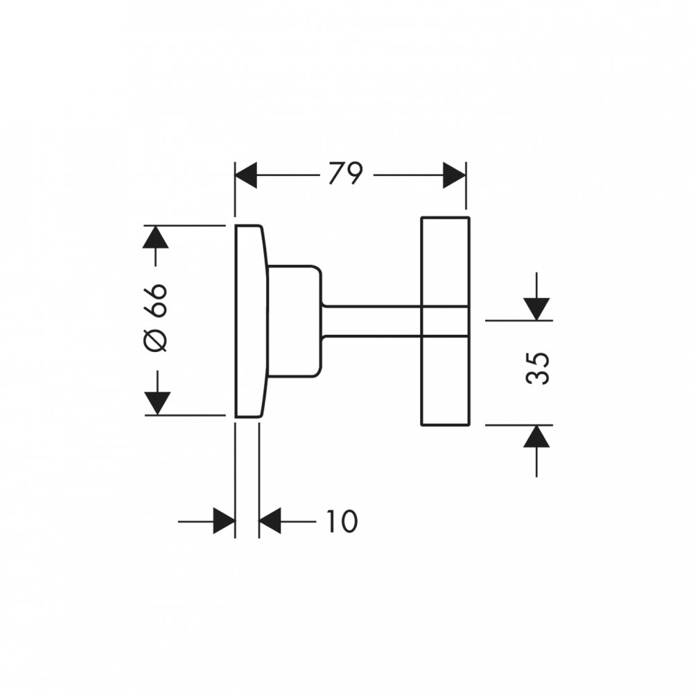Запорный вентиль AXOR Citterio с крестовой рукояткой для скрытого монтажа 1/2  и 3/4  хром  39965000