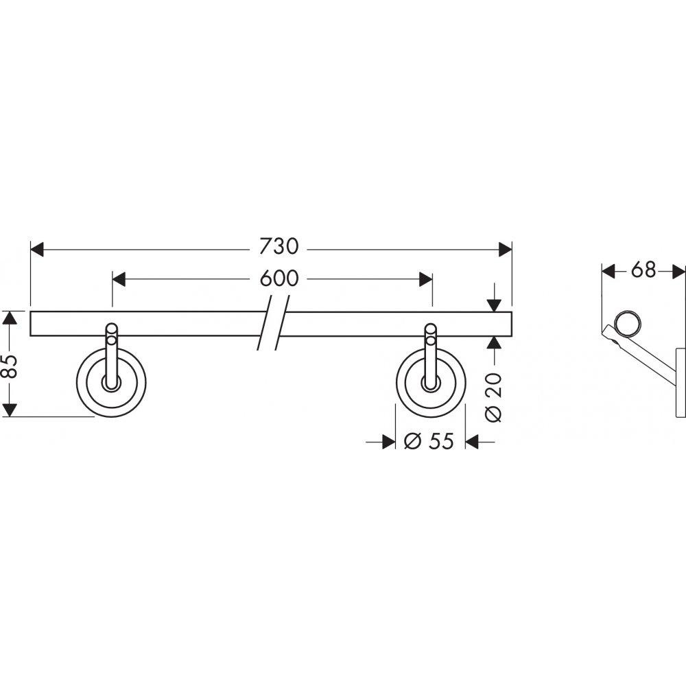 Полотенцедержатель AXOR Universal Accessories 600 мм хром  40806000