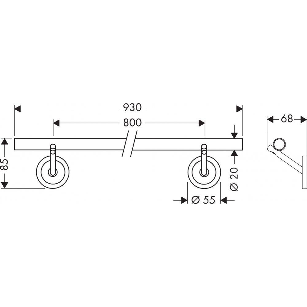 Полотенцедержатель AXOR Starck 800 мм хром  40808000