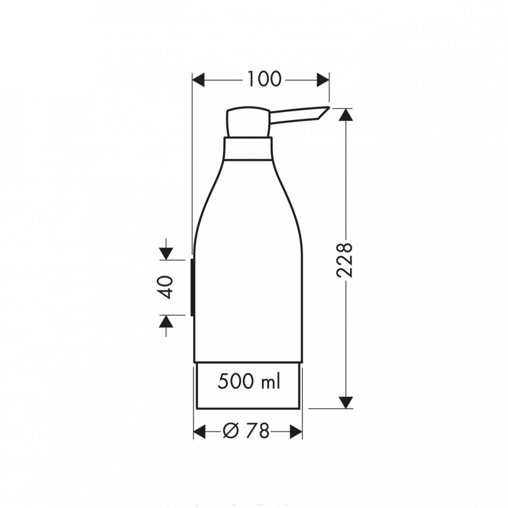 Дозатор для жидкого мыла AXOR Starck хром  40819000