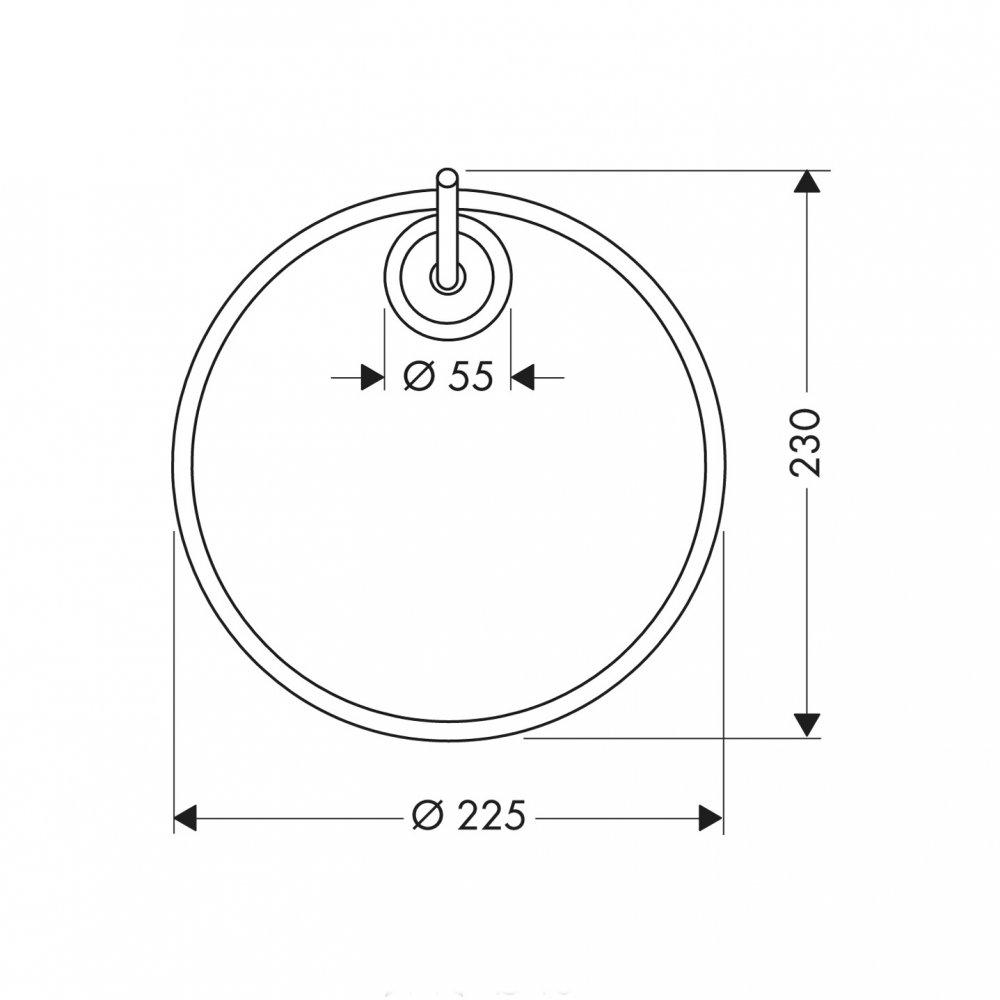 Полотенцедержатель AXOR Starck кольцевой хром  40821000