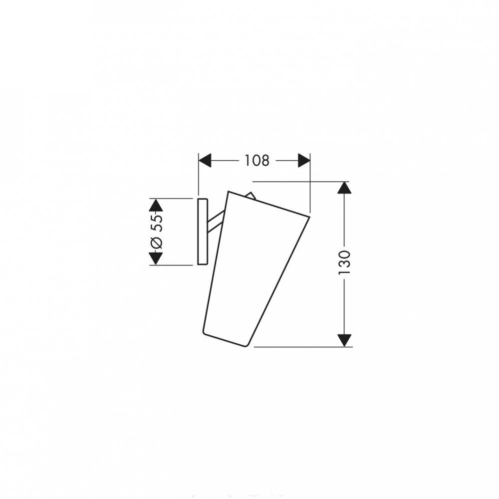 Стаканчик для зубных щеток AXOR Carlton хром  40834000