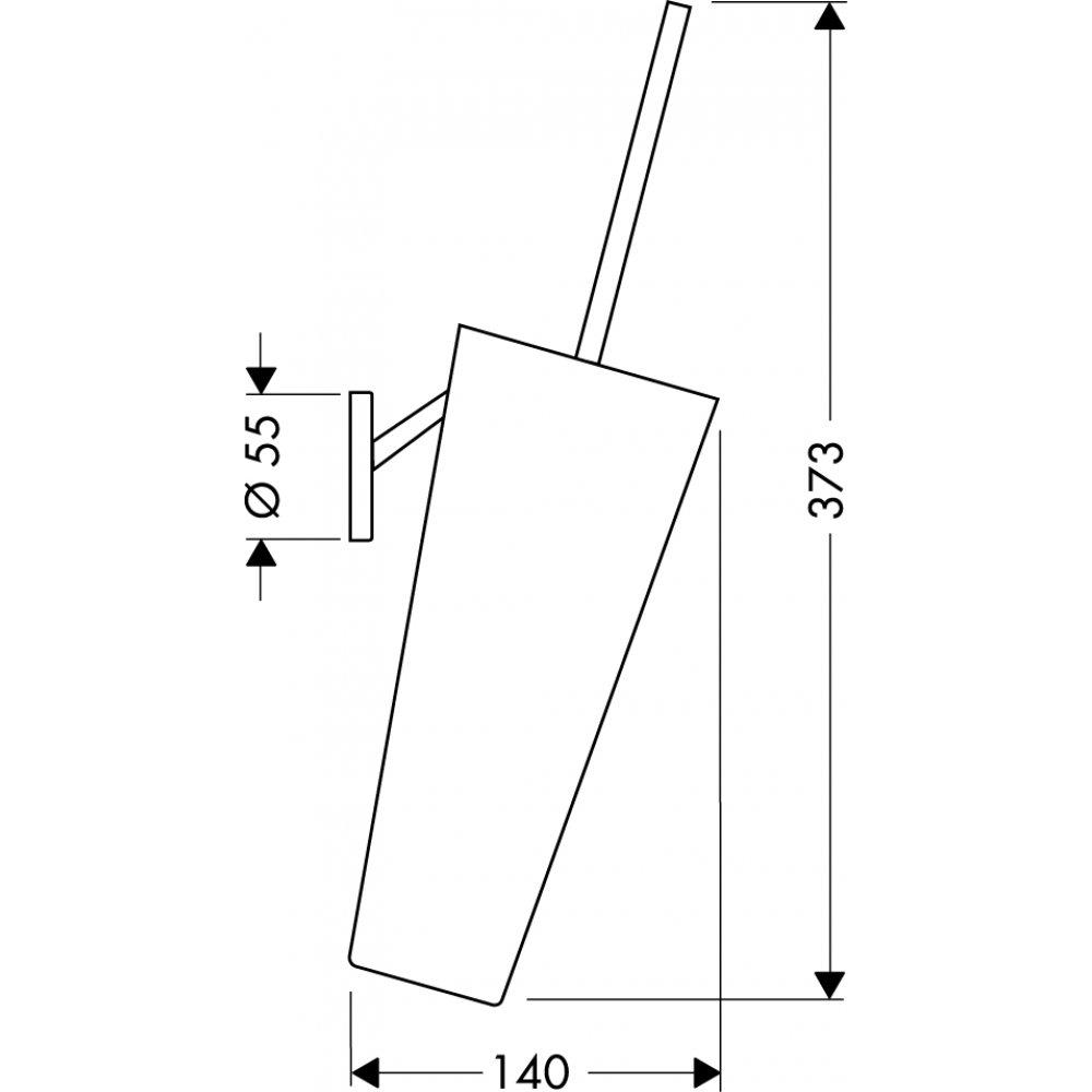 Набор для WC AXOR Starck хром  40835000