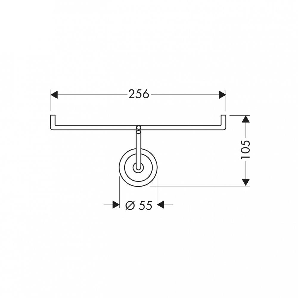 Держатель для туалетной бумаги AXOR Starck для 2 рулонов хром  40836000