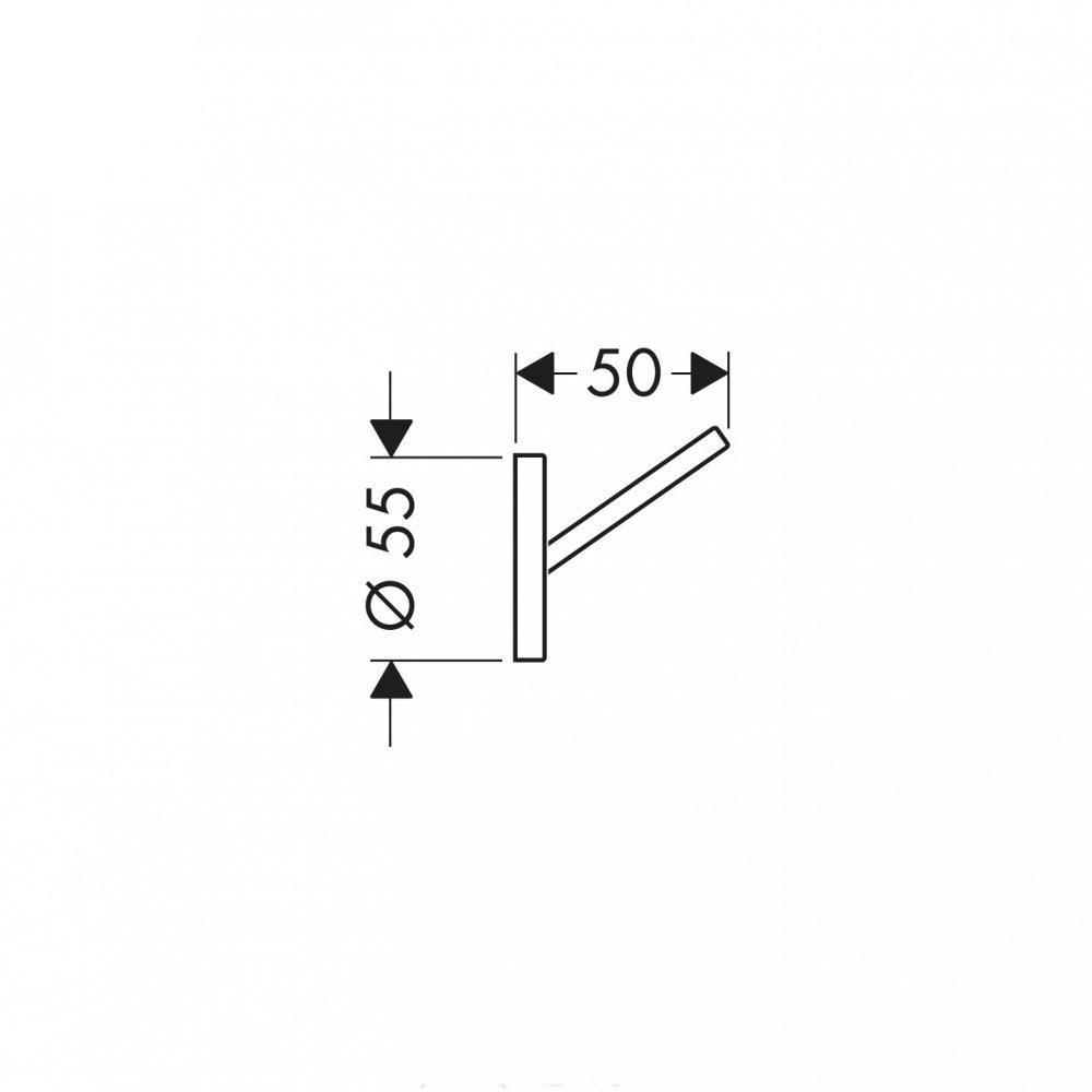 Крючок одинарный AXOR Starck хром  40837000