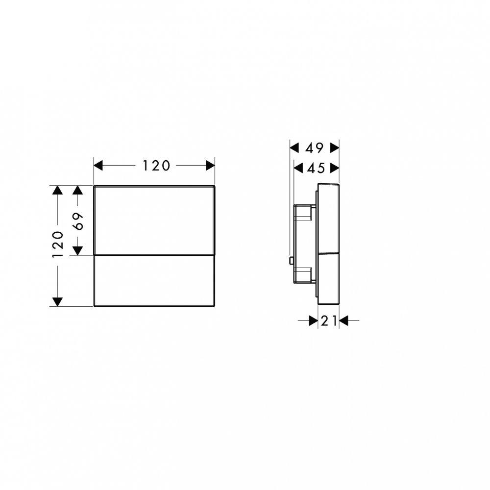 Модуль подсветки AXOR Starck хром  40871000