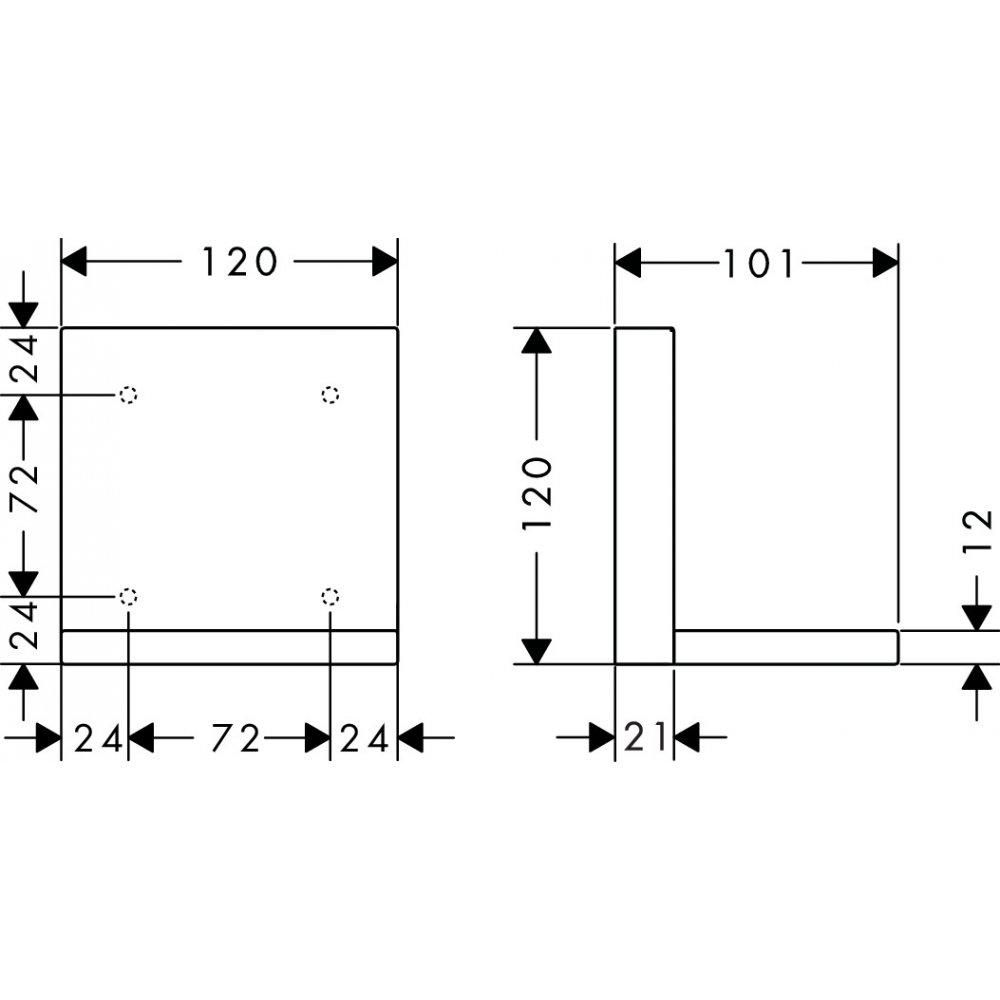 Короткая полочка AXOR ShowerSolutions 120 мм хром  40872000