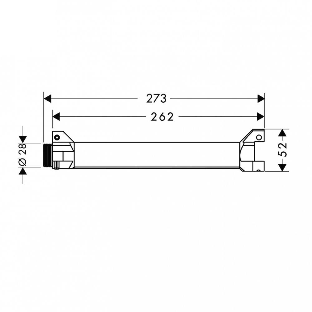 Скрытая часть AXOR ShowerSolutions для длинной полочки  40878180