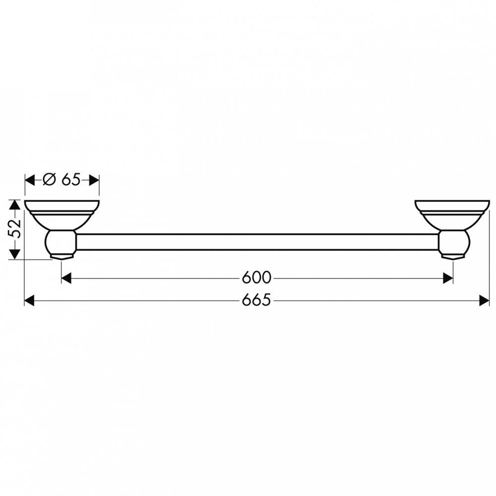 Полотенцедержатель AXOR Carlton 600 мм хром  41406000