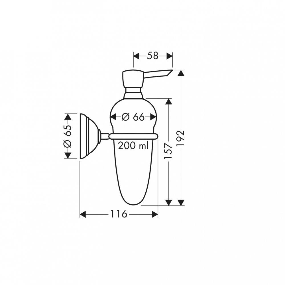 Дозатор для жидкого мыла AXOR Carlton хром  41419000
