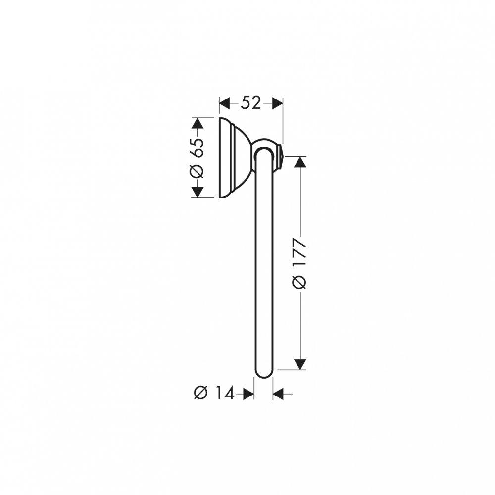 Полотенцедержатель AXOR Carlton кольцевой хром  41421000