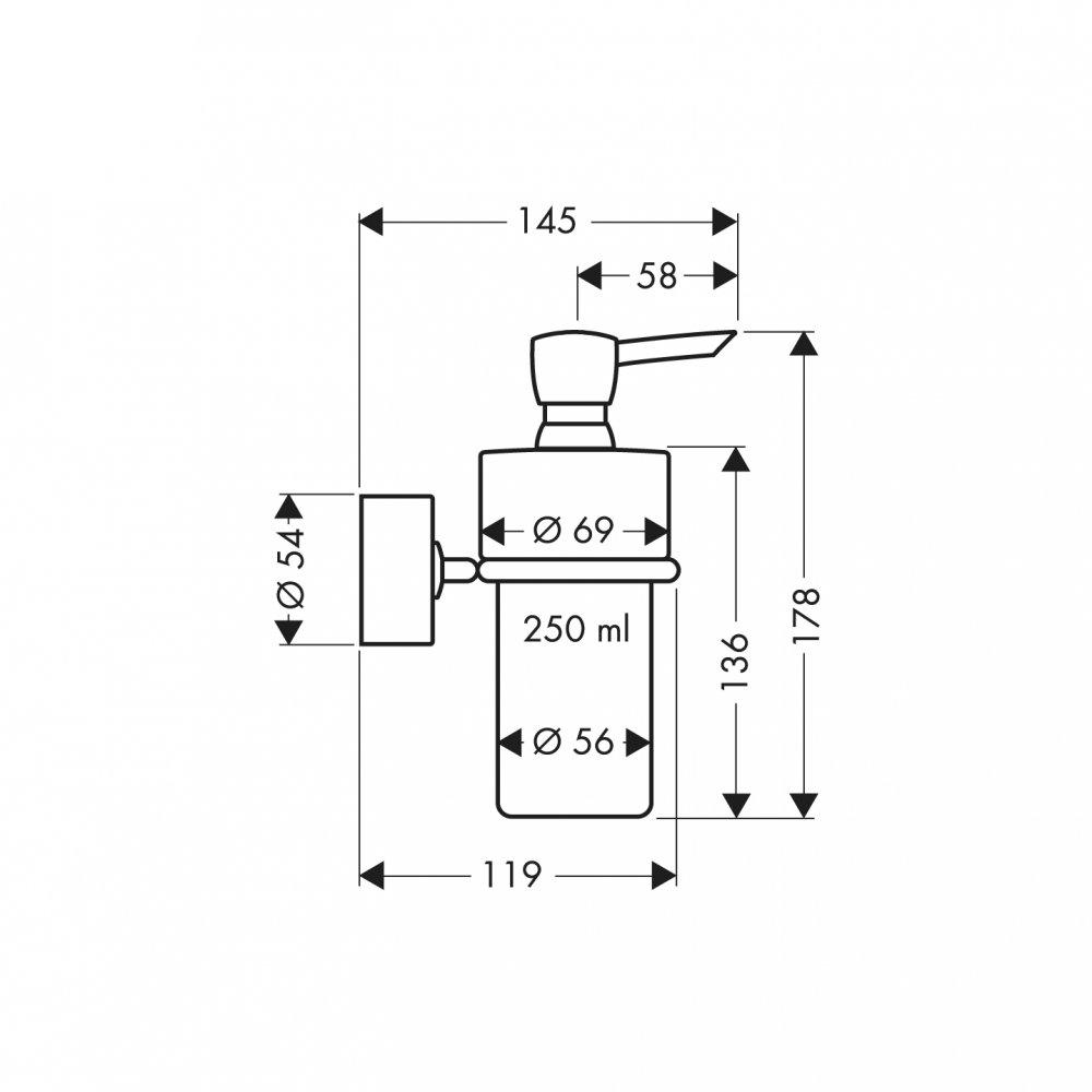 Дозатор для лосьона AXOR Uno хром  41519000