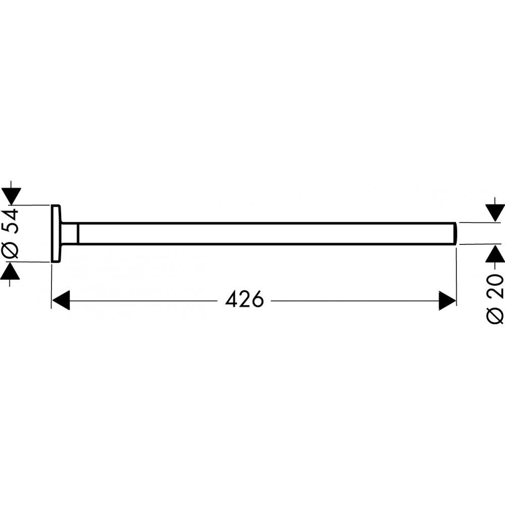 Держатель для полотенца AXOR Uno 426 мм хром  41520000