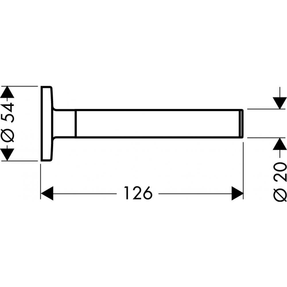 Держатель для туалетной бумаги AXOR Uno 126 мм для 1 рулона хром  41528000