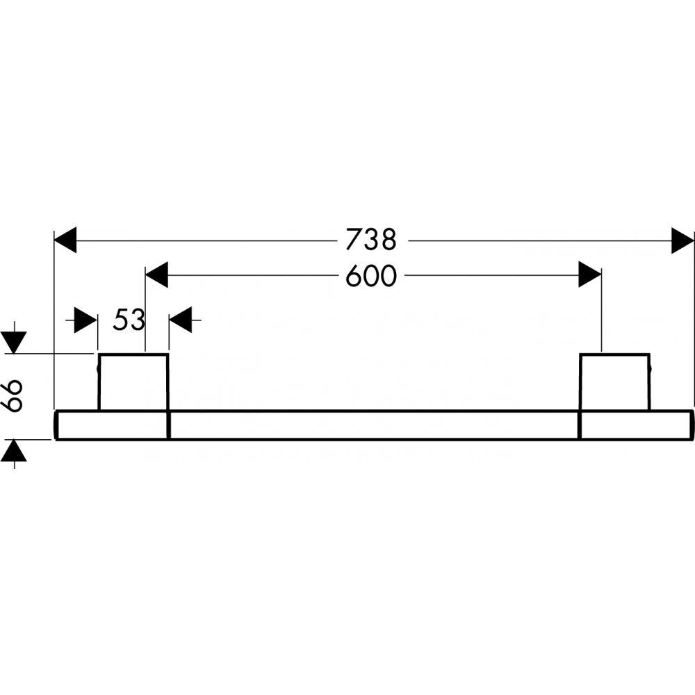 Полотенцедержатель AXOR Uno 740 мм хром  41560000