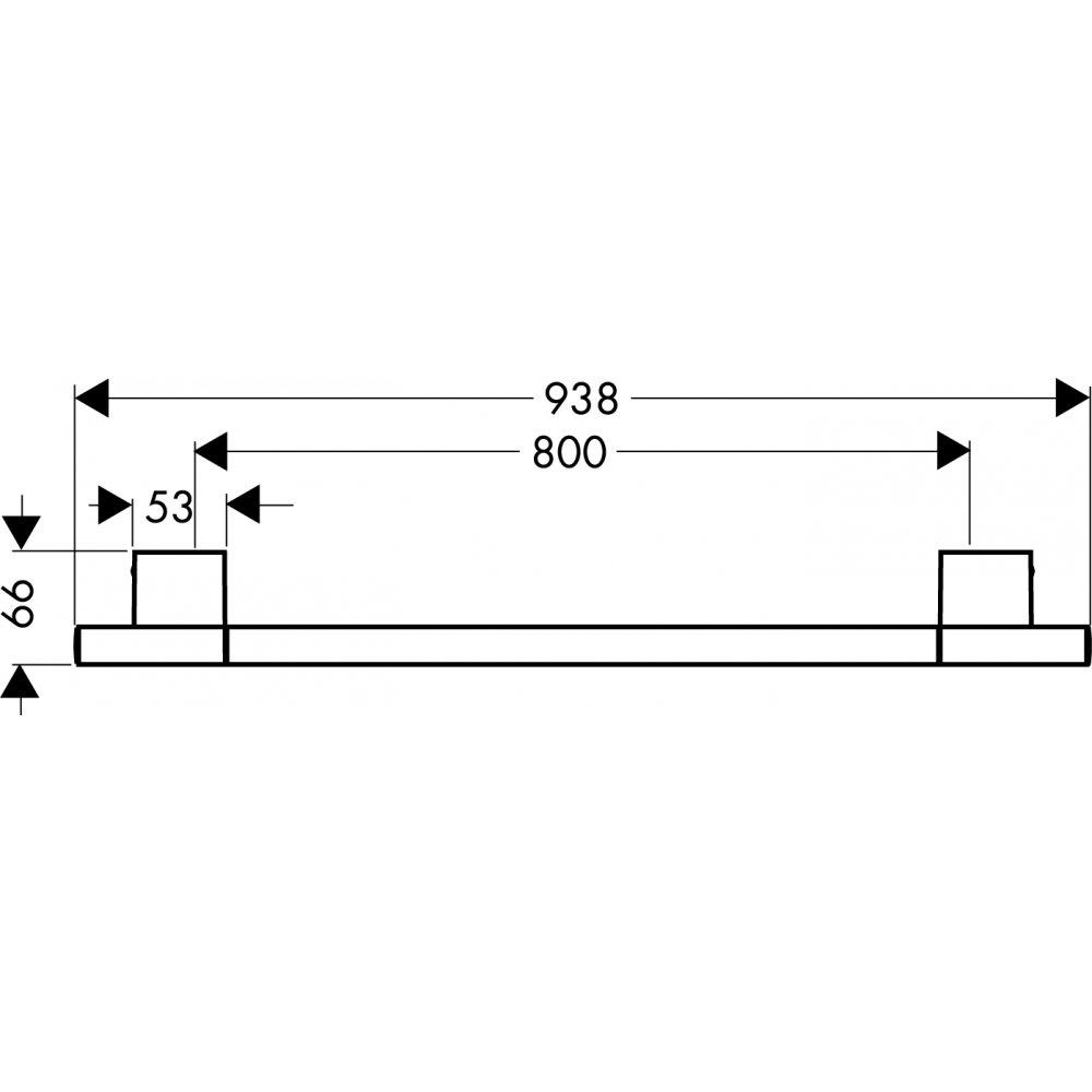 Полотенцедержатель AXOR Uno 940 мм хром  41580000