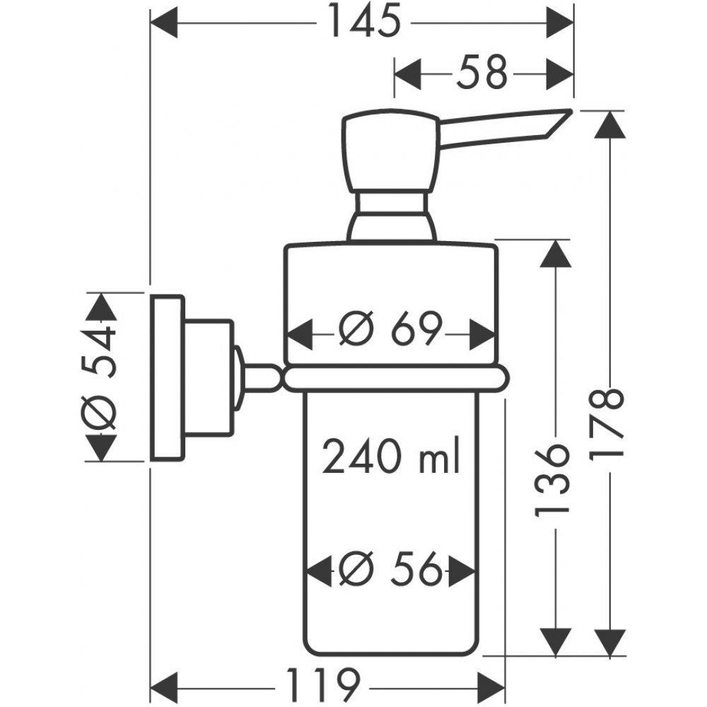 Дозатор для жидкого мыла AXOR Citterio хром  41719000