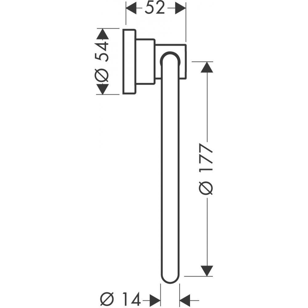 Полотенцедержатель AXOR Citterio кольцевой хром  41721000