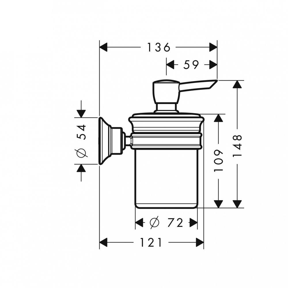 Дозатор для жидкого мыла AXOR Montreux шлифованный никель  42019820