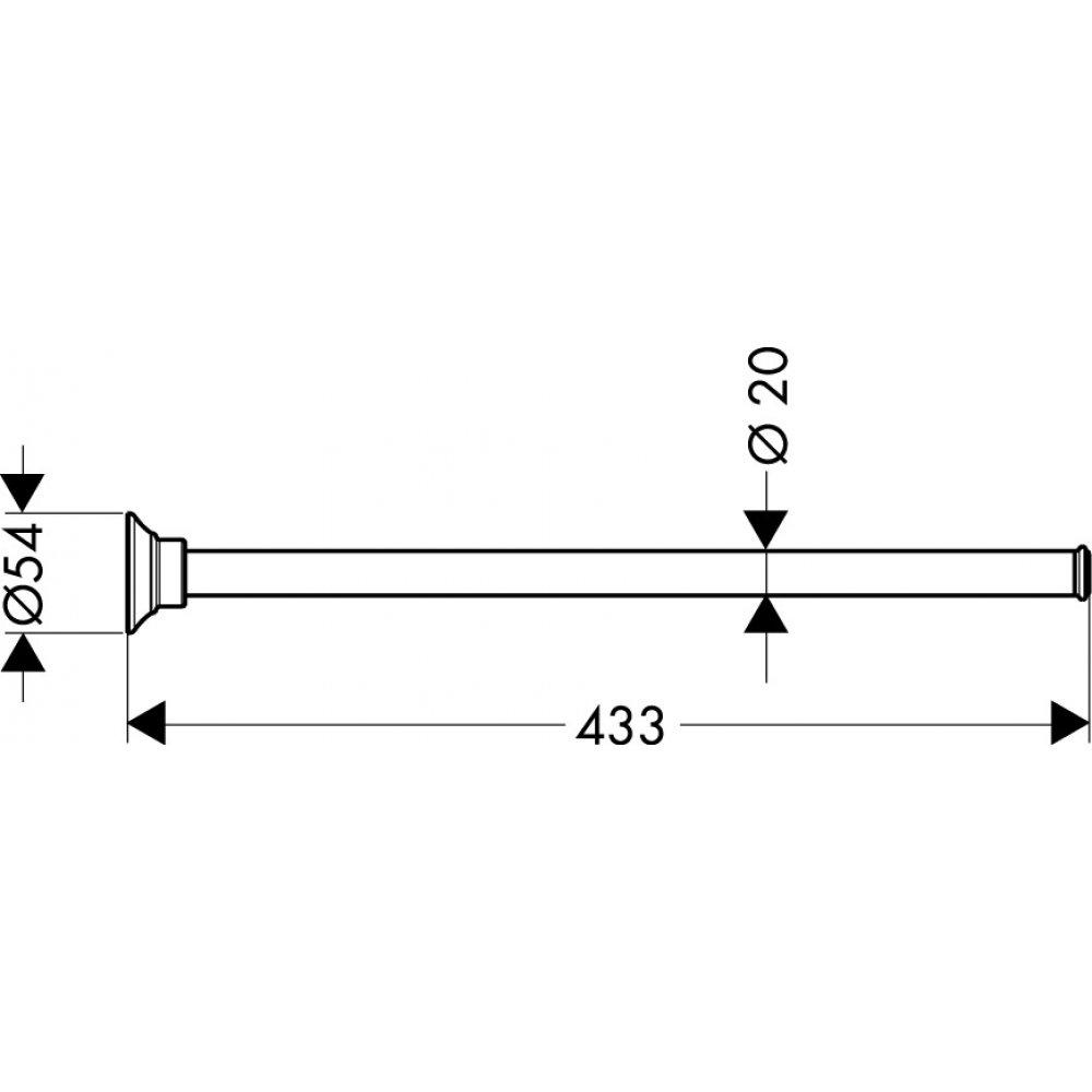Держатель для полотенца AXOR Montreux 433 мм хром  42020000