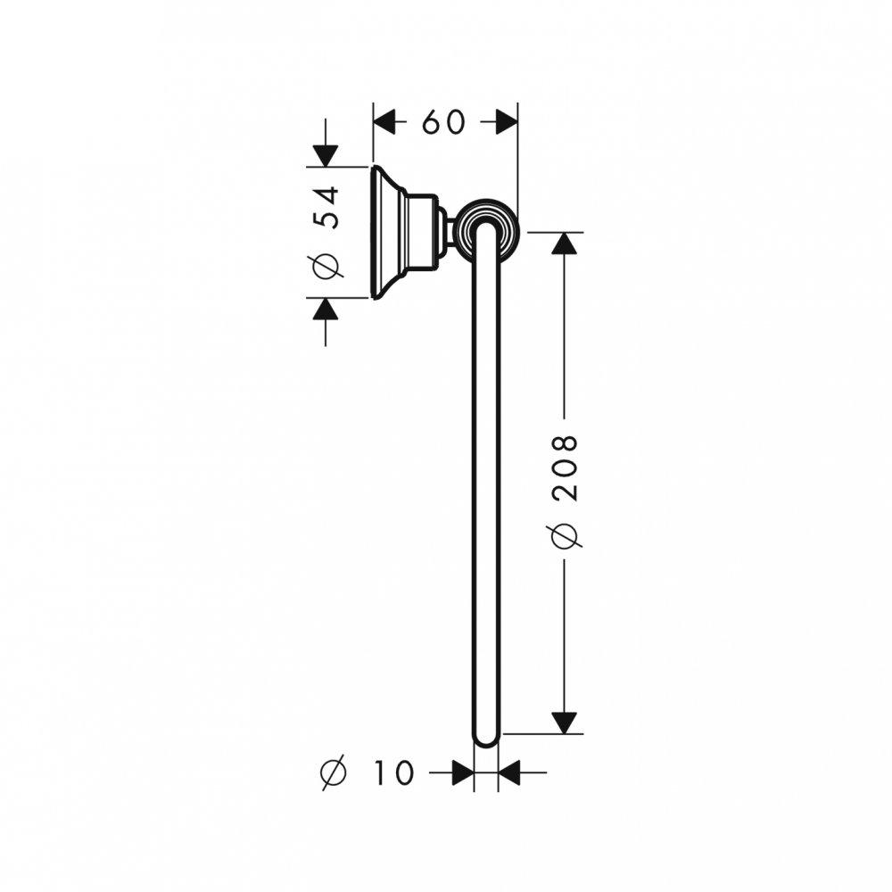 Полотенцедержатель AXOR Montreux кольцевой шлифованный никель  42021820