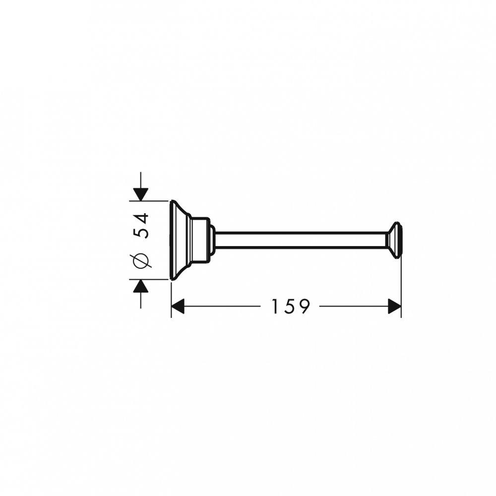 Держатель для туалетной бумаги AXOR Montreux шлифованный никель  42028820