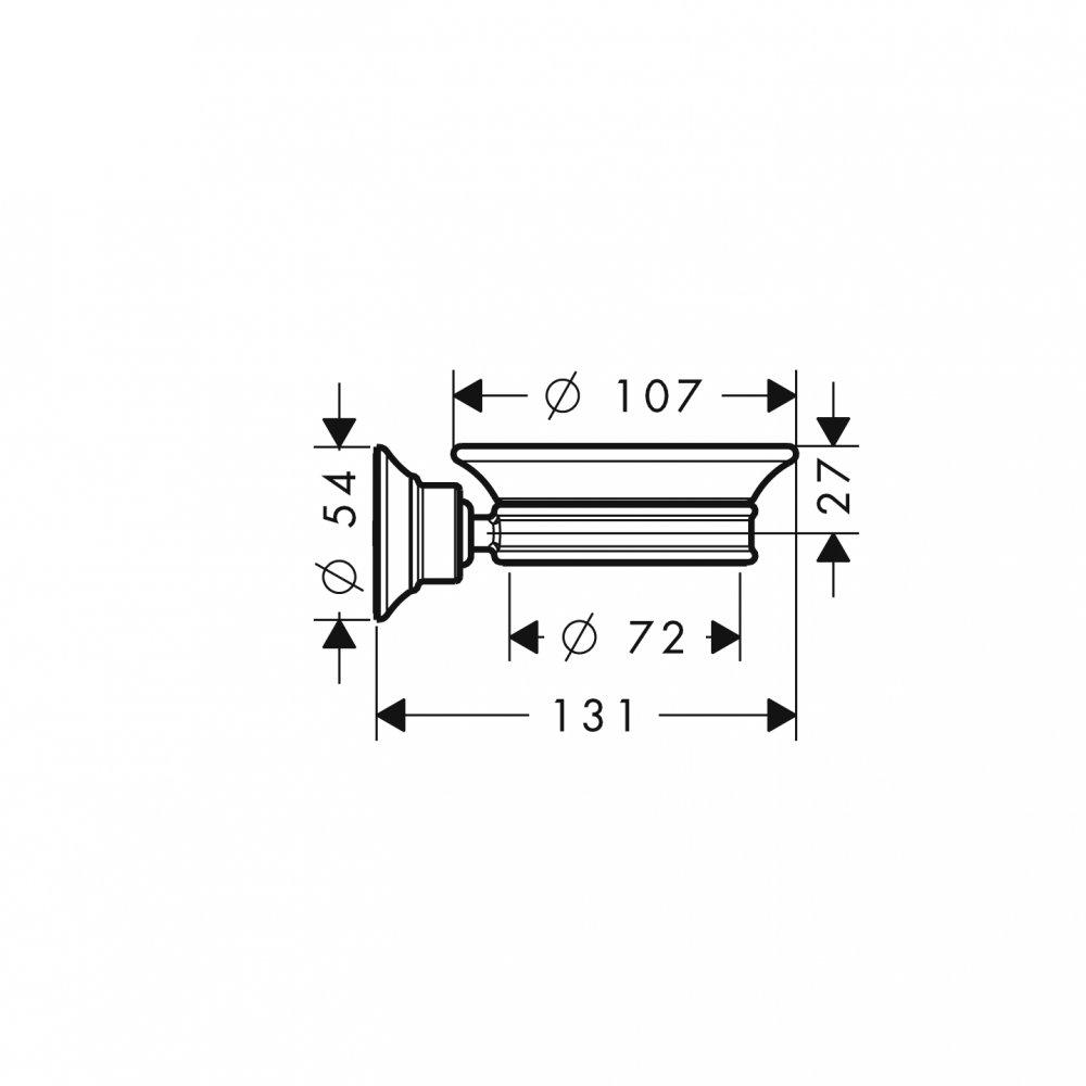 Мыльница AXOR Montreux шлифованный никель  42033820