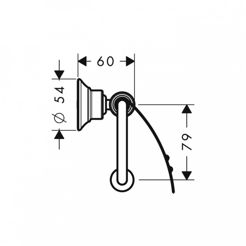 Держатель для туалетной бумаги AXOR Montreux с крышкой шлифованный никель  42036820