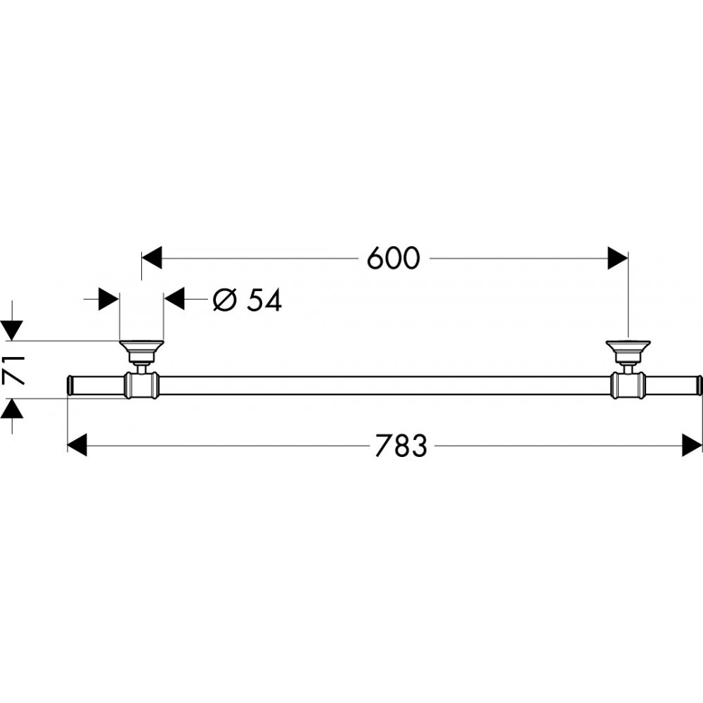 Полотенцедержатель AXOR Montreux 600 мм шлифованный никель  42060820