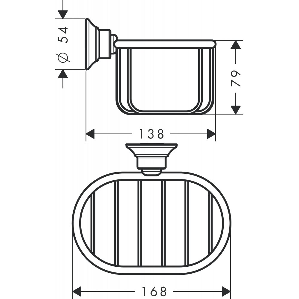 Мыльница-короб AXOR Montreux 160 на 101 мм хром  42065000