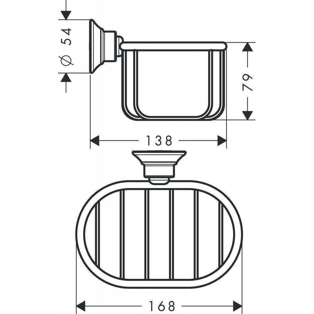 Мыльница-короб AXOR Montreux шлифованный никель 42065820