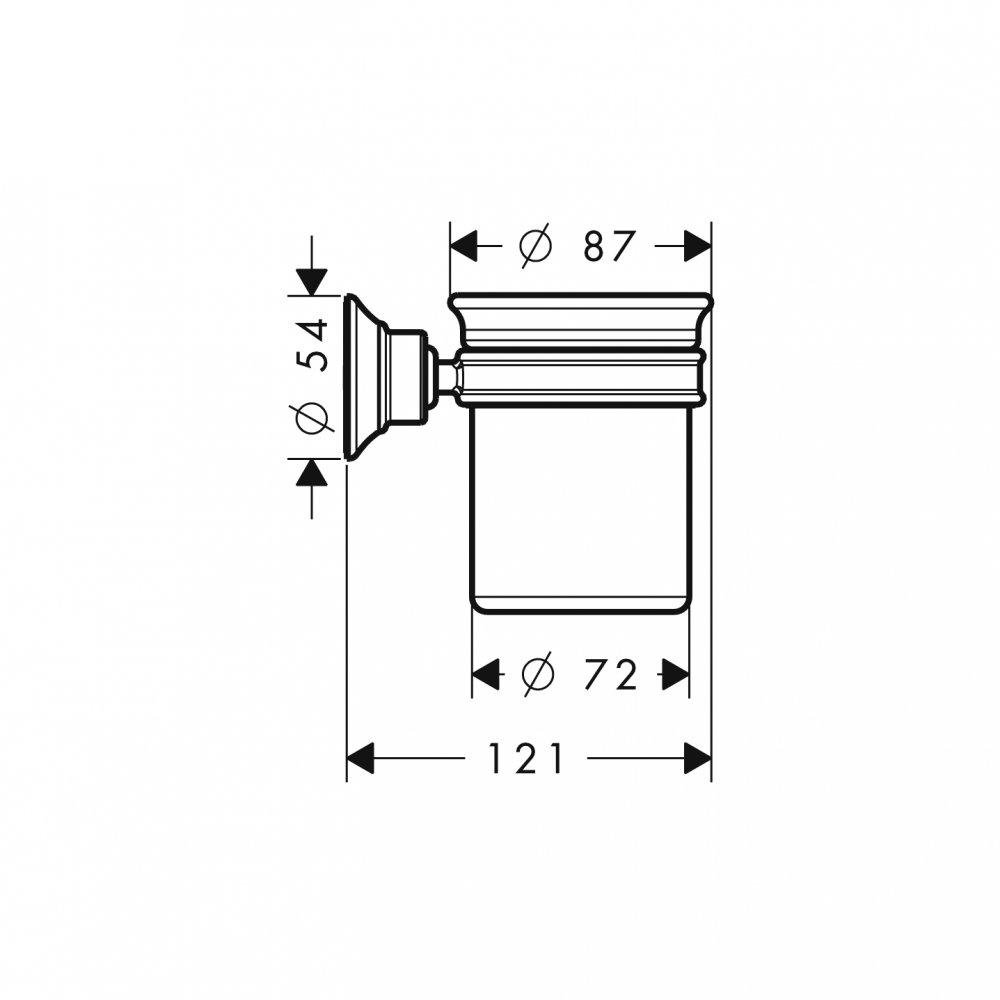 Стаканчик для зубных щеток AXOR Montreux шлифованный никель  42134000