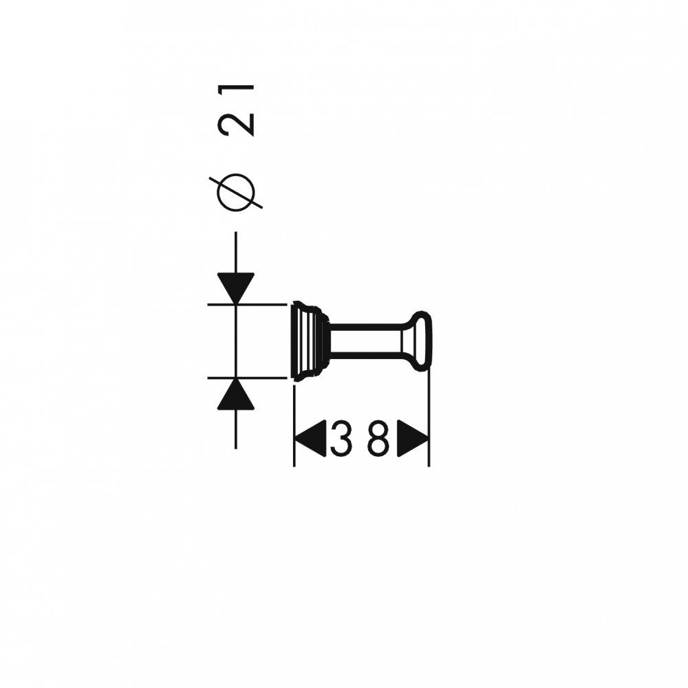 Крючок одинарный AXOR Montreux шлифованный никель  42137820