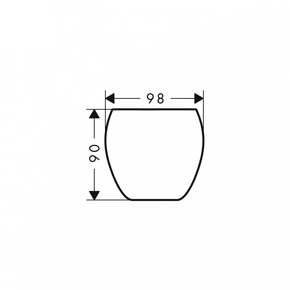 Стаканчик для зубных щеток AXOR Urquiola хром  42234000