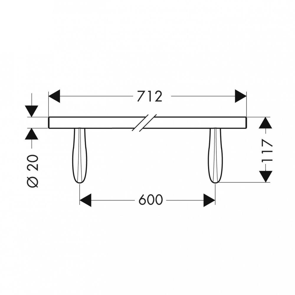 Полотенцедержатель AXOR Massaud 700 мм хром  42260000
