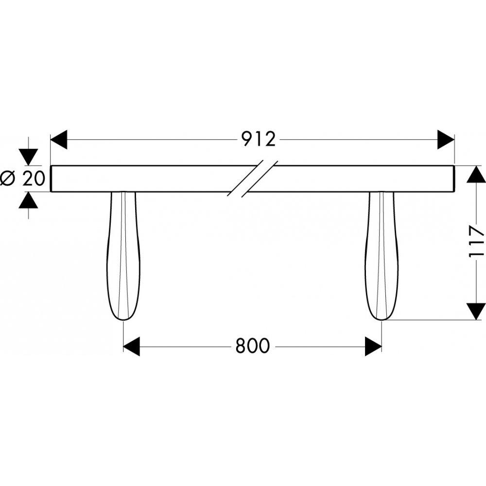 Полотенцедержатель AXOR Massaud 900 мм хром  42280000