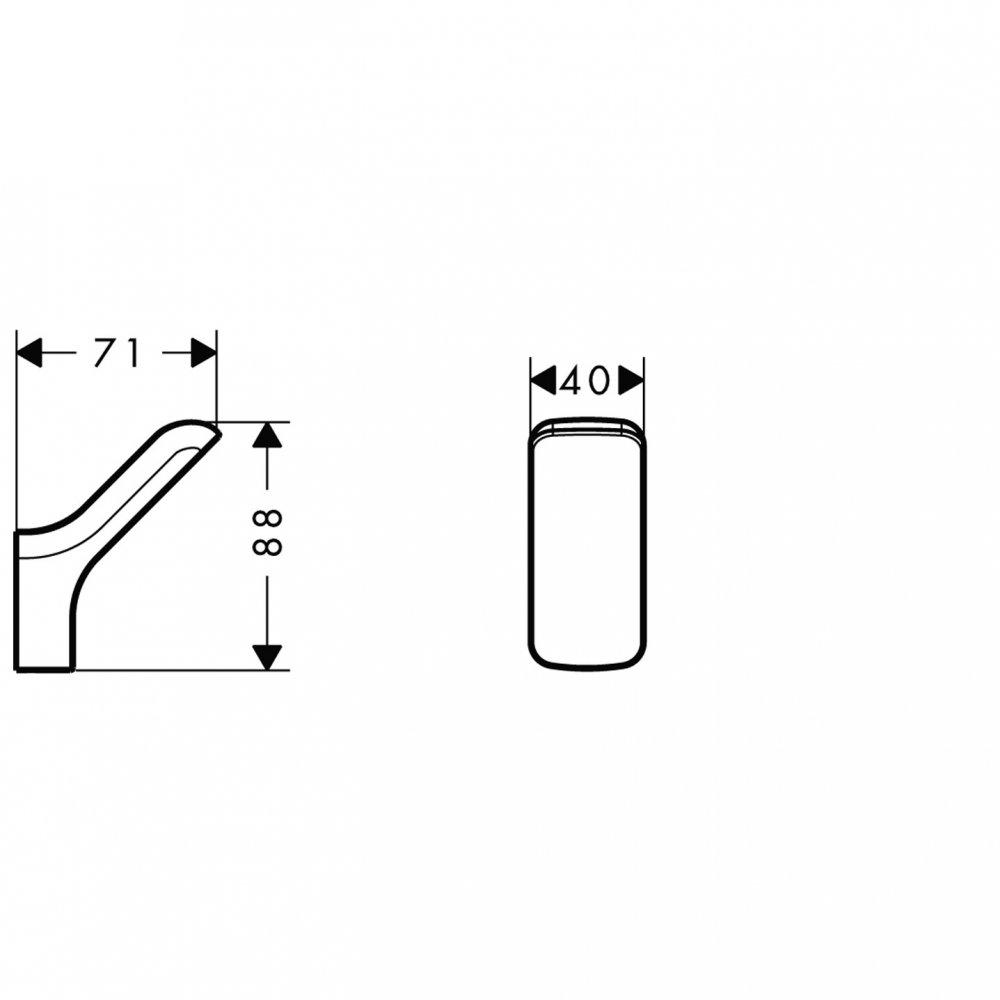 Крючок одинарный AXOR Urquiola хром  42401000