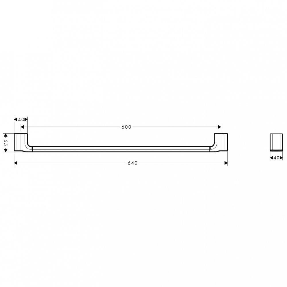 Полотенцедержатель AXOR Urquiola 600 мм хром  42460000