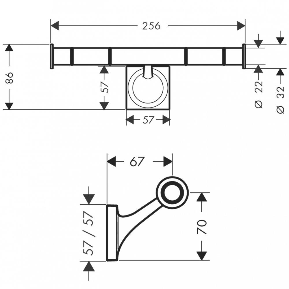 Держатель для туалетной бумаги AXOR Starck Organic хром  42736000