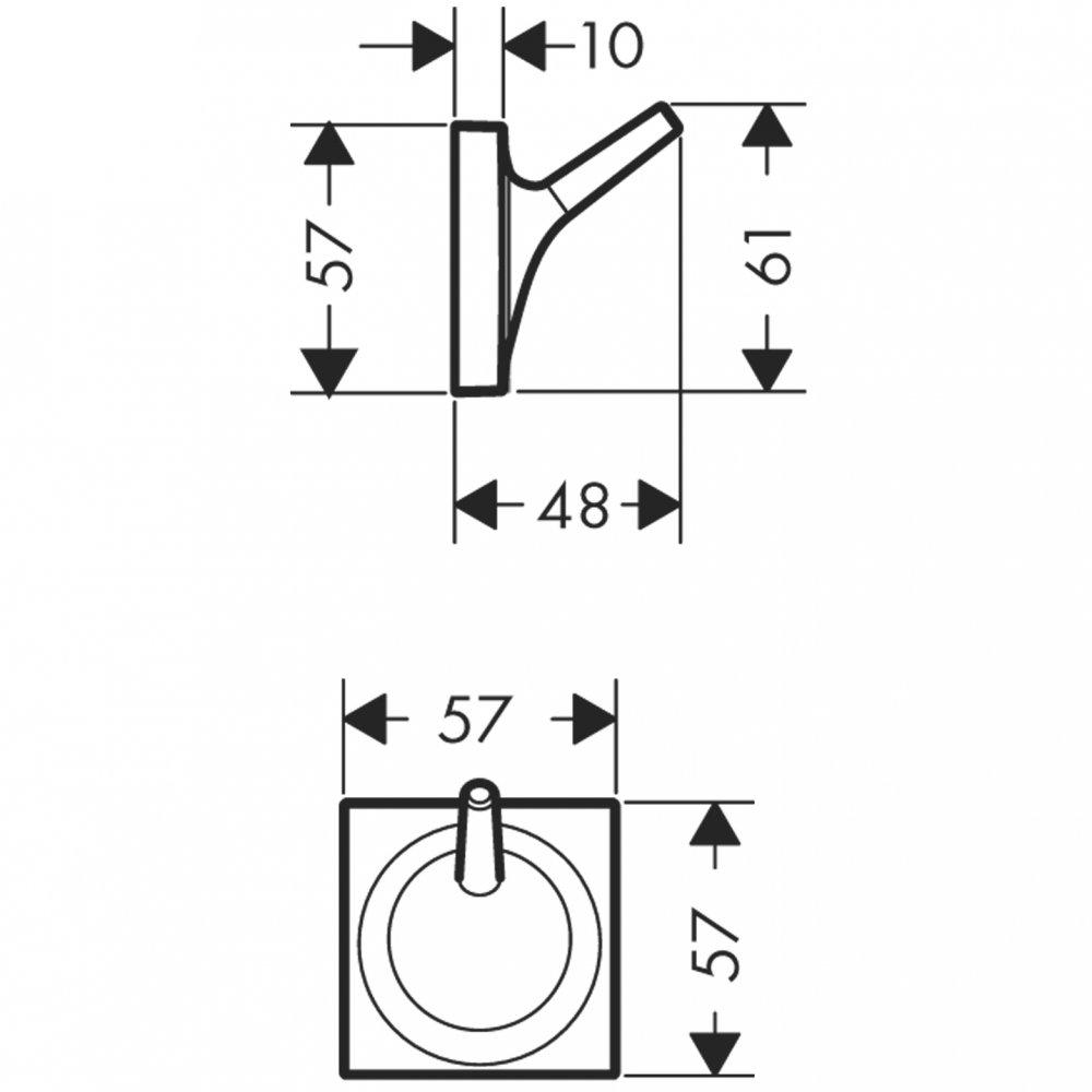 Крючок одинарный AXOR Starck Organic хром  42737000