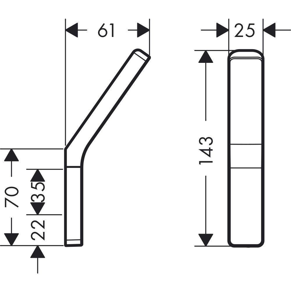 Крючок AXOR Universal Accessories хром  42801000
