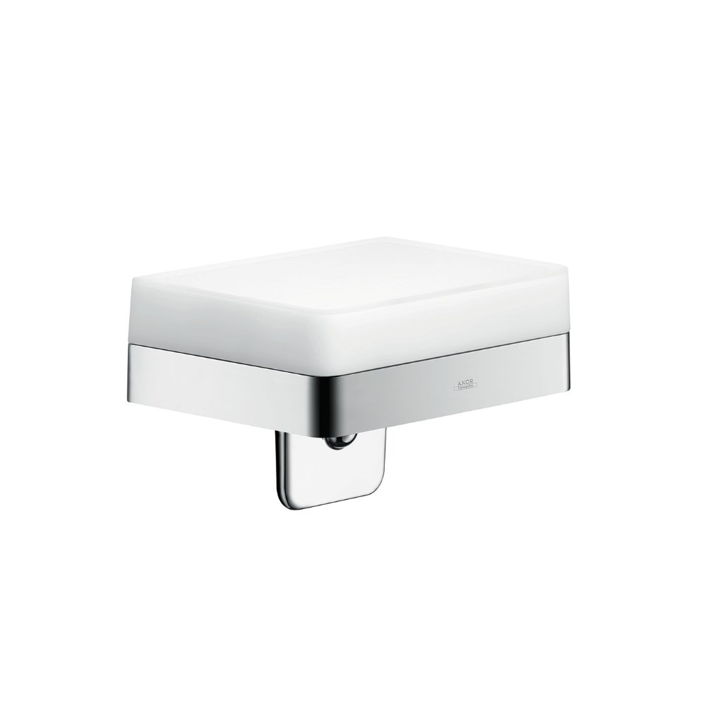 Дозатор для жидкого мыла AXOR Universal Accessories с полочкой 150 мм для настенного монтажа и монтажа на рейлинге объем 180мл хром  42819000