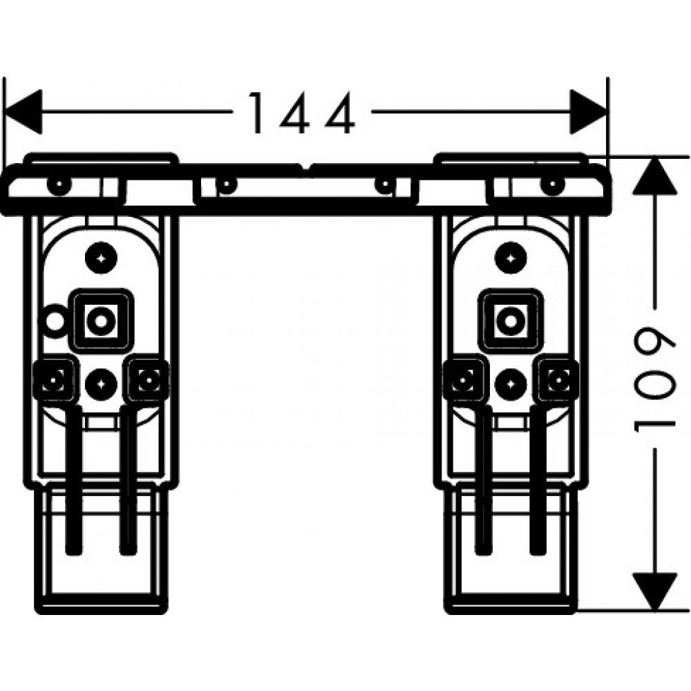 Комплект адаптеров AXOR Universal Accessories для монтажа хром  42870000