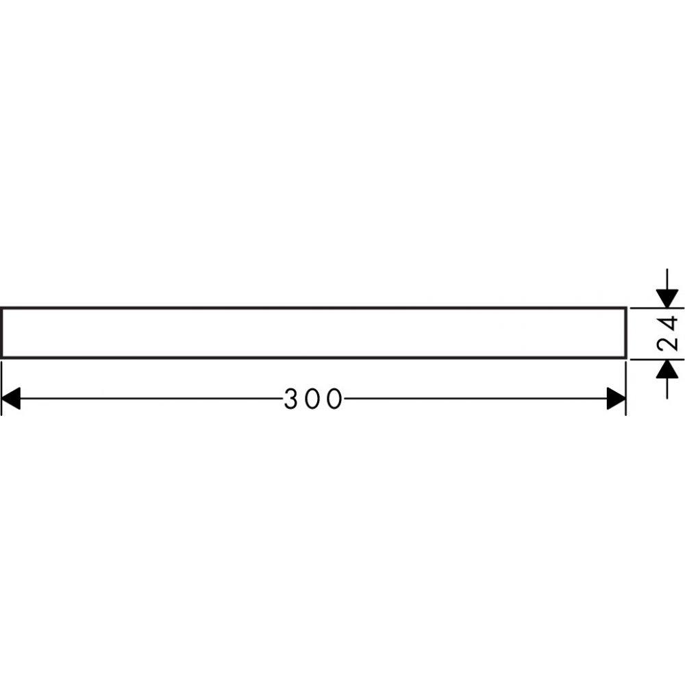 Декоративная накладка AXOR Universal Accessories 300 мм хром  42891000
