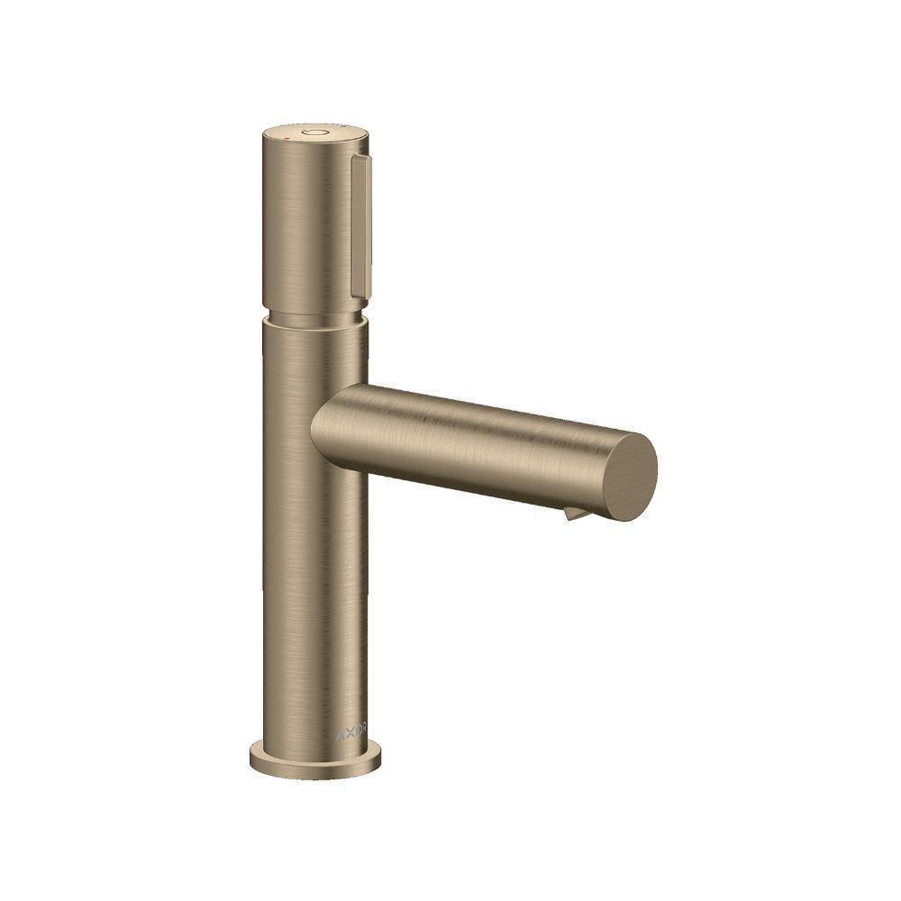 Смеситель AXOR Uno для раковины с высотой излива 110 мм Select с неперекрываемым сливным набором шлифованный никель  45012820