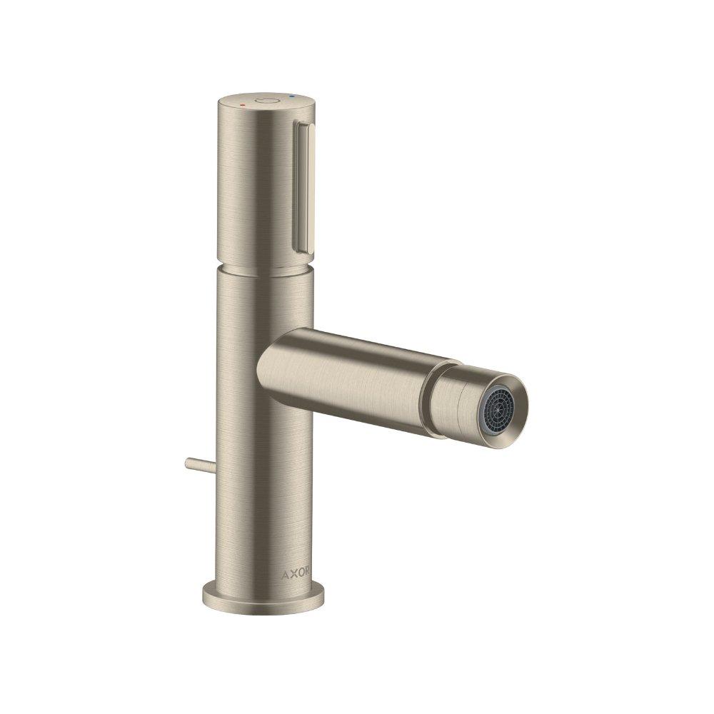 Смеситель для биде AXOR Uno Select со сливным гарнитуром шлифованный никель  45210820
