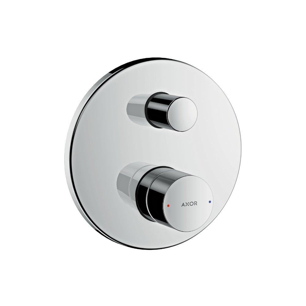 Смеситель для ванны AXOR Uno с рукояткой zero со встроенной защитной комбинацией для скрытого монтажа шлифованный никель  45407820