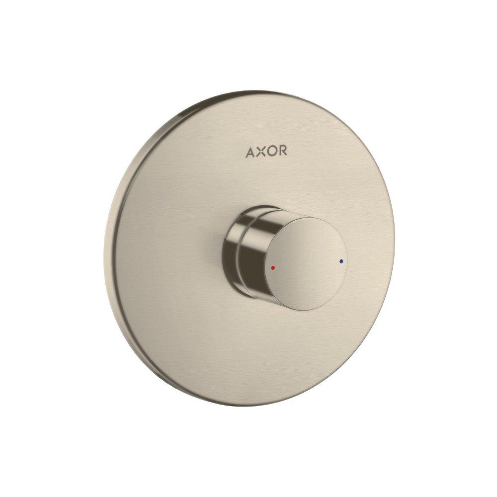 Смеситель для душа AXOR Uno с рукояткой Zero для скрытого монтажа шлифованный никель  45605820