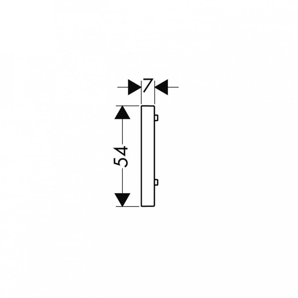 Прокладка для крепления штанги на плитку AXOR Uno 7 мм прямоугольная хром  96397000